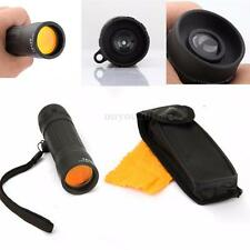 10X25 Compact Handy Pocket Monocular Telescope for Hunting Camping Carrying Case