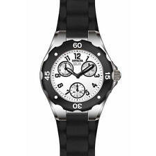 Invicta 18787 Women's Angel White Dial Black Silicone Strap Watch