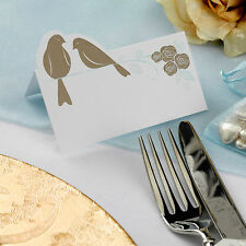 50 TABLE PLACE CARDS Name Setting Gold Lovebird Ivory Wedding To Have & To Hold