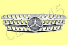 MERCEDES ML Class W163 1998-2005 Front Central Silver Grill 99 00 01 02 03 04