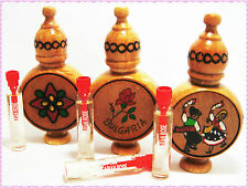 "Bulgarian Rose Oil OTTO Perfume Essence 2.1ml in Hand made Wooden Box-""Muskal"""