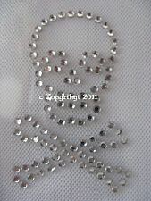 Hotfix Rhinestone Iron-on Picture small Skull Neck scarf 111010 Karostonebox