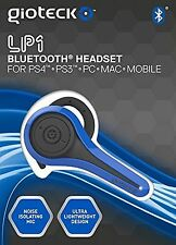 Gioteck LP-1 bluetooth chat headset-bleu (PS4/PS3/PC)