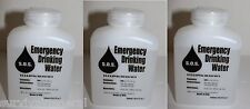 (3) Water Bottle Container Emergency Survival Drinking 500ML 16.9oz 3 Day Supply