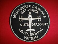 """US 8th SOS A-37B Dragonfly At BIEN HOA AFB """"100 MISSIONS OVER SOFIA's"""" Patch"""