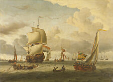 The Anchorage of Enkhuizen by Abraham Storck 75cm x 54.3cm Canvas Print