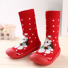 Unisex Kids Toddler Baby Anti-slip Socks Shoes Animals Soft Boots Slippers Home