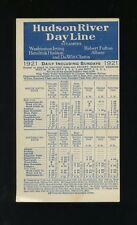 1921 Hudson River Dayline Steamers Schedule and Rate Card