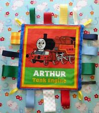New Toby Tram Engine Train Taggy Taggie Autism comforter Sensory Blanket
