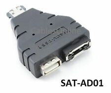 eSATAp (Power over eSATA) Male to USB-A Female / eSATA Female Adapter, SAT-AD01