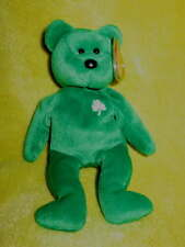 Irish Green ERIN Soft Clean Stuffed Plush BEAR Beanie Shamrock TOY St Patrick