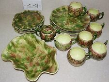 1950's JAMIESON'S Pottery Capistrano CA LUNCHEON Set AUTUMN GLAZE plate cup bowl