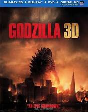 Godzilla (3D) [Blu-ray, 3-Disc set] NEW!!!FREE FIRST CLASS SHIPPING !!