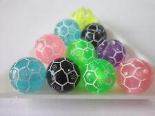 25 transparent Coupe du Monde de Football Acrylique Perles 12 mm conclusions fabrication de bijoux