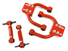 RED RACING FRONT TUBULAR ARMS + REAR CAMBER KIT FOR 96-00 HONDA CIVIC EK D16 B16