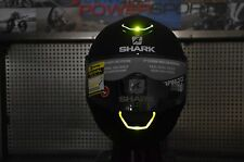 LARGE Shark Skwal LED Light Up Street Full Face Motorcycle Helmet Matte Black