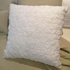 White Smocked Euro Pillow Cushion Sham Case Cover Shabby Chic Pink Ice Grey Lst