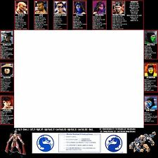 Mortal Kombat 2 Arcade Moves List Bezel Panel Artwork Art CPO Midway MK2 Midway