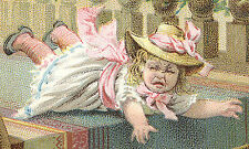 2 STICKNEY & POOR'S MUSTARDS SPICES TRADE CARDS, 1880s CUTE KIDS FREE SHIP TC956
