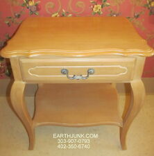 Ethan Allen Country French Queen Anne Night Table 26 5416 Bisque on Birch Wood