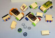 CALELLO Automoblox Wooden Toy Car Lot Wood Parts Pieces