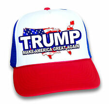 DONALD TRUMP HAT ~ MAKE AMERICA GREAT AGAIN MESH CAP ~ RED WHITE BLUE USA
