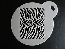 Laser cut small zebra skin design cake, cookie,craft & face painting stencil