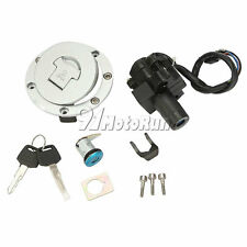 Ignition Switch Fuel Gas Cap Seat Lock Key Set for Honda CBR600 F2 F3 1991-1998