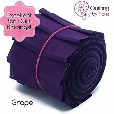 "10 x 2.25"" Grape Purple PreCut Quilt Binding Strips, 2.25 inch x WOF, Die Cut"