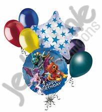 7 pc Skylanders Happy Birthday Balloon Bouquet Party Decoration Video Game