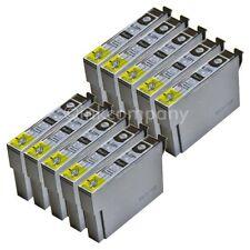 10 kompatible Tintenpatronen black für den Drucker Epson SX430W