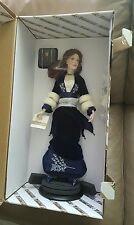 Franklin Mint Titanic Rose Porcelain Doll in Blue Velvet Dress New.