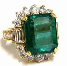 "GIA Certified 17.60ct natural green emerald diamonds ring 18kt ""F1"""