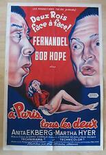 french movie poster  À Paris tous les deux / Paris Holiday  Fernandel  Bob Hope