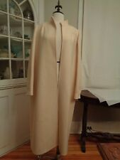 ANDRE LAUG for Audrey 100% wool winter white maxi coat women's 10 Italy vintage