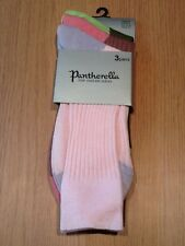 PANTHERELLA 3 PACK OF FINE ENGLISH SOCKS CONTRAST HEEL TOE PINK/ROSE/GREEN NWT