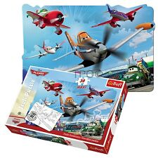 Trefl 30 Piece Maxi Boys Dusty Planes Flying Two Sided Colouring Jigsaw Puzzle
