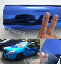 50FT x 5FT Blue Glossy Mirror Chrome Film Vinyl For Whole Car Wrapping Sticker