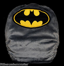 Embroidered Batman Minky - Modern Cloth Nappy (MCN) + 2x Microfibre inserts