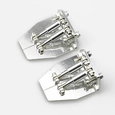 2PC CNC Aluminum Trim Tabs 51mm x 62mm x 26mm Silver for Medium-Size RC Boat