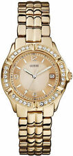 Guess U11069L1 Womens Rose Gold-Tone Stainless Steel Crystal Date Watch NWT