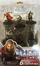 THOR:THE DARK WORLD 6 FIGURE STARTER SET Marvel Heroclix Loki Kurse Sif Dark Elf