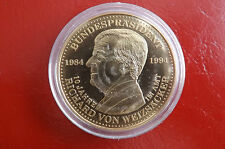 *Münze/Medaille  Vergoldet ca.40mm *Richard von Weizsäcker (BOX2)