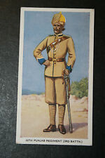 Punjab Regiment  British Indian Army  Original Vintage Card ### VGC