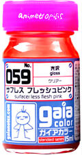 GAIA COLOR 059  Surfacer Less Flesh Pink GUNDAM MODEL KIT PAINT 15ml NEW
