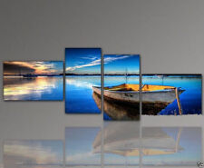 4 pieces Large Modern hand-painted Art Oil Painting Wall Decor canvas no framed