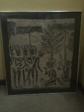 Vintage Art India Indian Bali Indonesia Asia Ceremony Hindu Tribal Painting