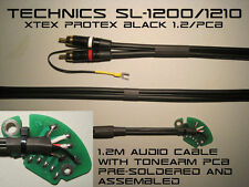 Technics SL-1200/1210 Audio Phono RCA Cable With Tonearm PCB ProteX Black 1.2m