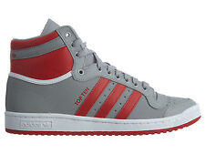 Adidas Top Ten Hi Mens B26162 Grey Red White Leather Athletic Shoes Size 9
