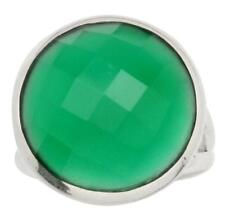 Green Onyx Gemstone Ring Solid 925 Silver Jewelry Size 7 IR33888